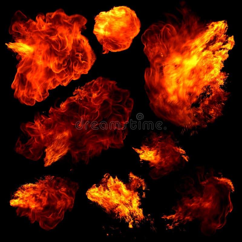 Bolas de fuego imagenes de archivo