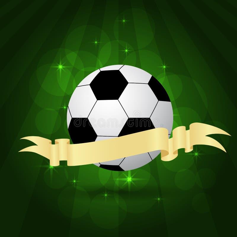 Bolas de futebol no passo ilustração royalty free
