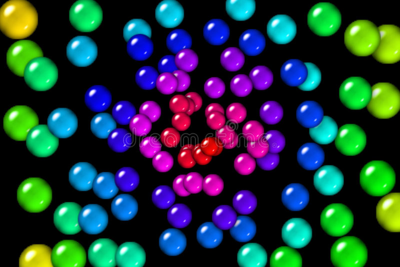 Bolas de goma del arco iris ilustración del vector