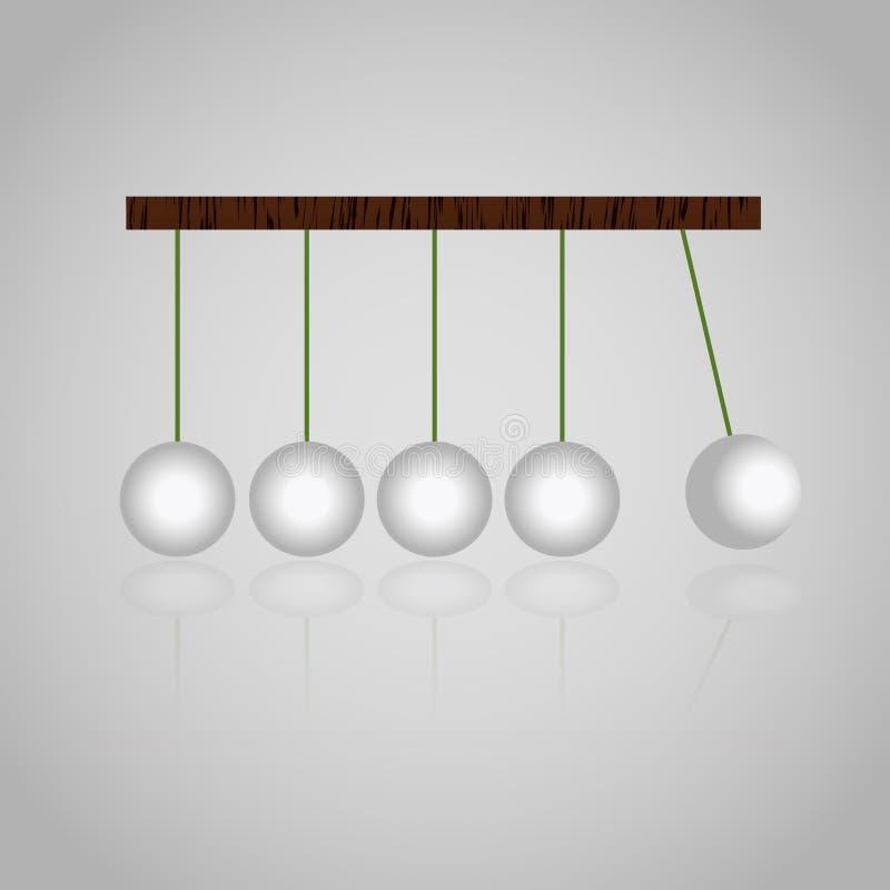 Bolas de la cinética de los mecánicos de la física fijadas libre illustration