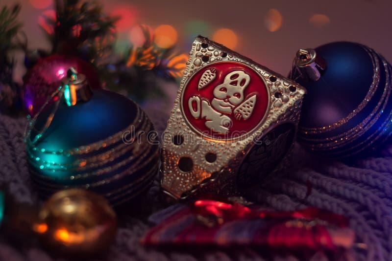 Bolas 2016 de la decoración de la Navidad foto de archivo libre de regalías