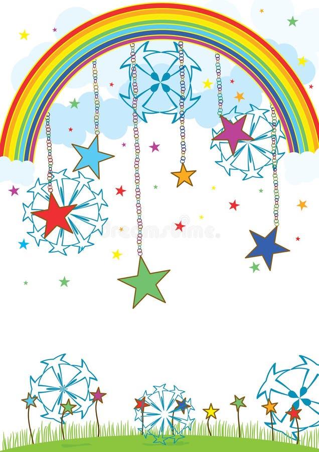 Bolas de la estrella sobre el cielo libre illustration