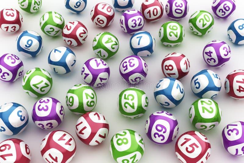 Bolas de la lotería ilustración del vector