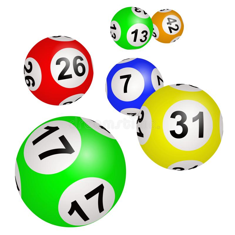 Bolas de la loteria en un fondo blanco libre illustration