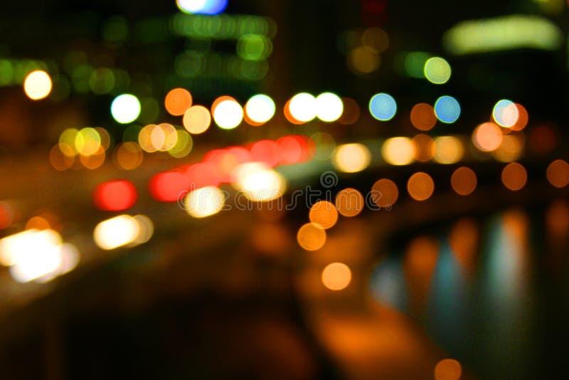 Bolas de la luz de la ciudad fotografía de archivo libre de regalías