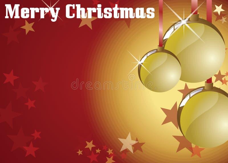 Bolas de la Navidad ilustración del vector