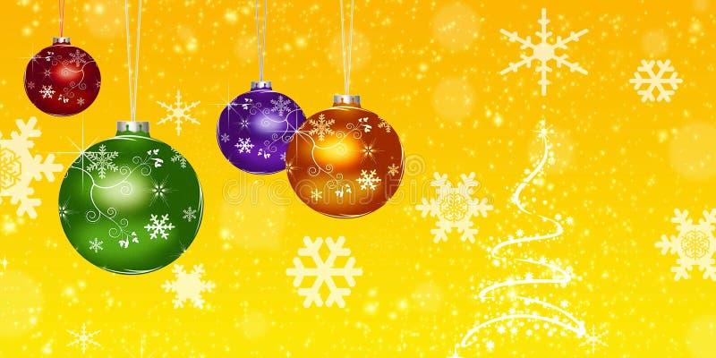 Bolas de la Navidad, stock de ilustración