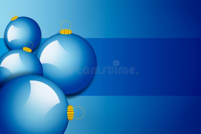 Bolas de la Navidad, ilustración del vector
