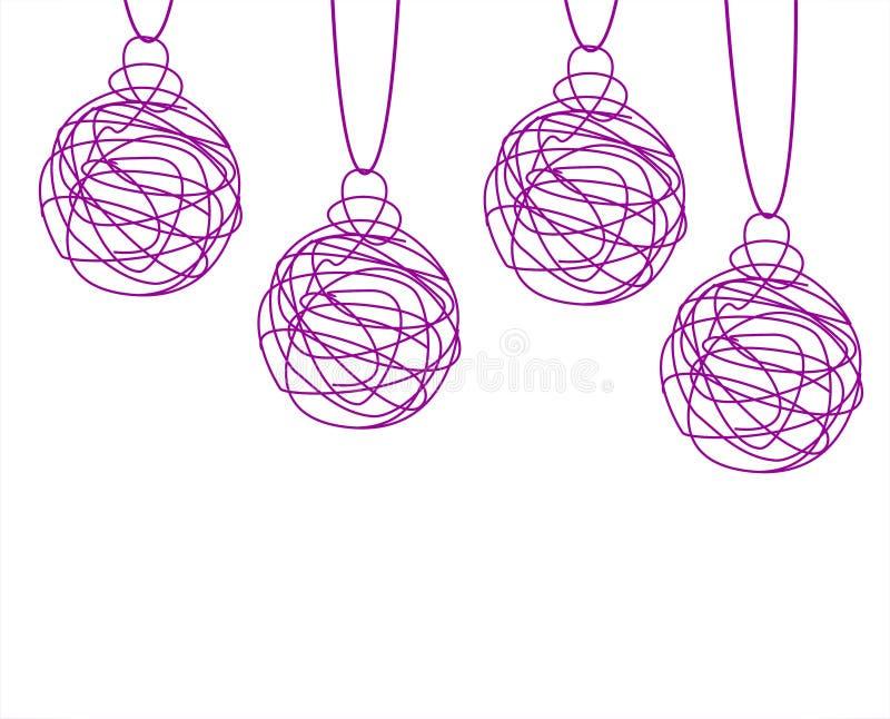Download Bolas de la Navidad stock de ilustración. Ilustración de fondo - 44855019