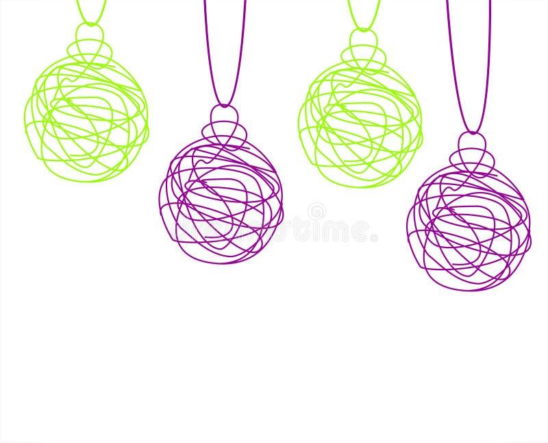 Download Bolas de la Navidad stock de ilustración. Ilustración de estrella - 44855077