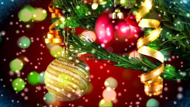 Bolas de la Navidad almacen de video