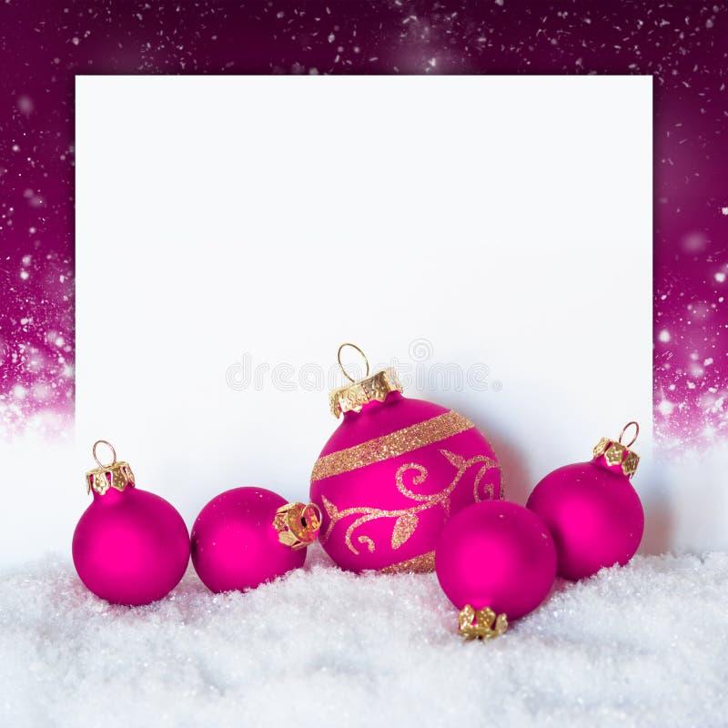 Bolas de la Navidad fotografía de archivo