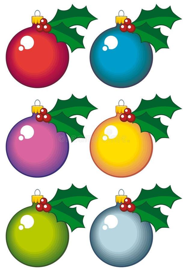 Download Bolas de la Navidad ilustración del vector. Ilustración de esfera - 7278309