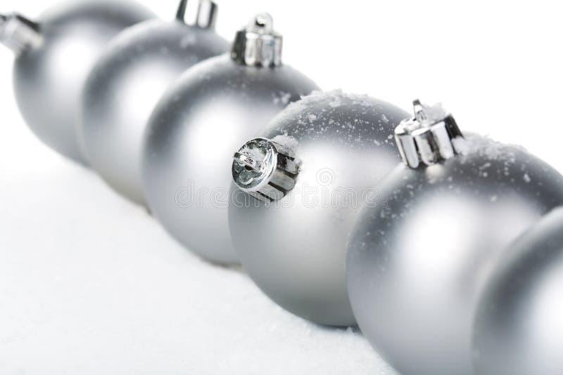Bolas de la Navidad aisladas fotografía de archivo