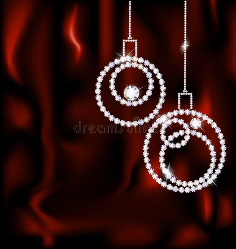 bolas de la Navidad de la joya stock de ilustración