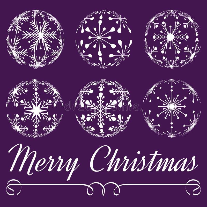 Bolas de la Navidad del vector ilustración del vector