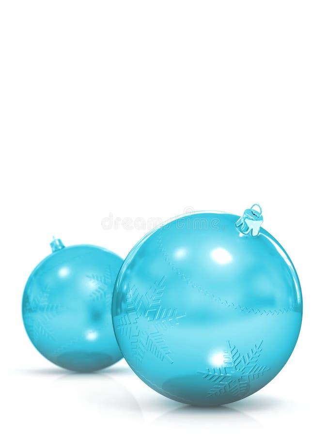 Bolas de la Navidad en blanco libre illustration