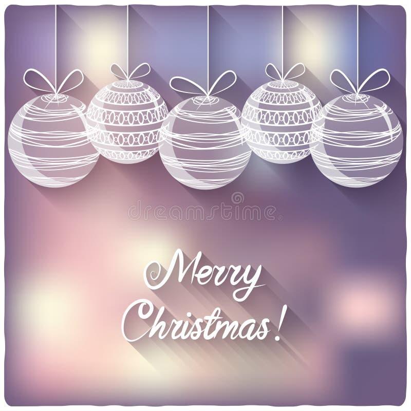 Bolas de la Navidad en fondo borroso ilustración del vector