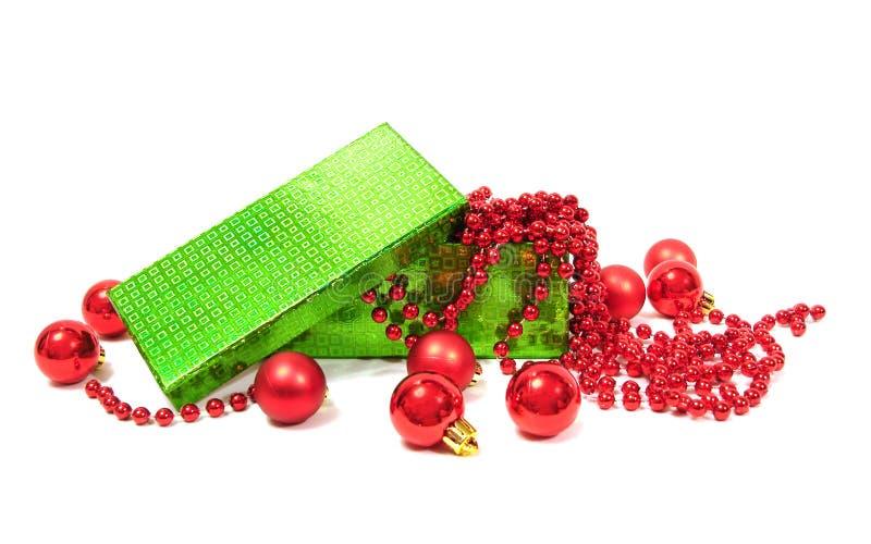 Bolas de la Navidad en rectángulo imágenes de archivo libres de regalías