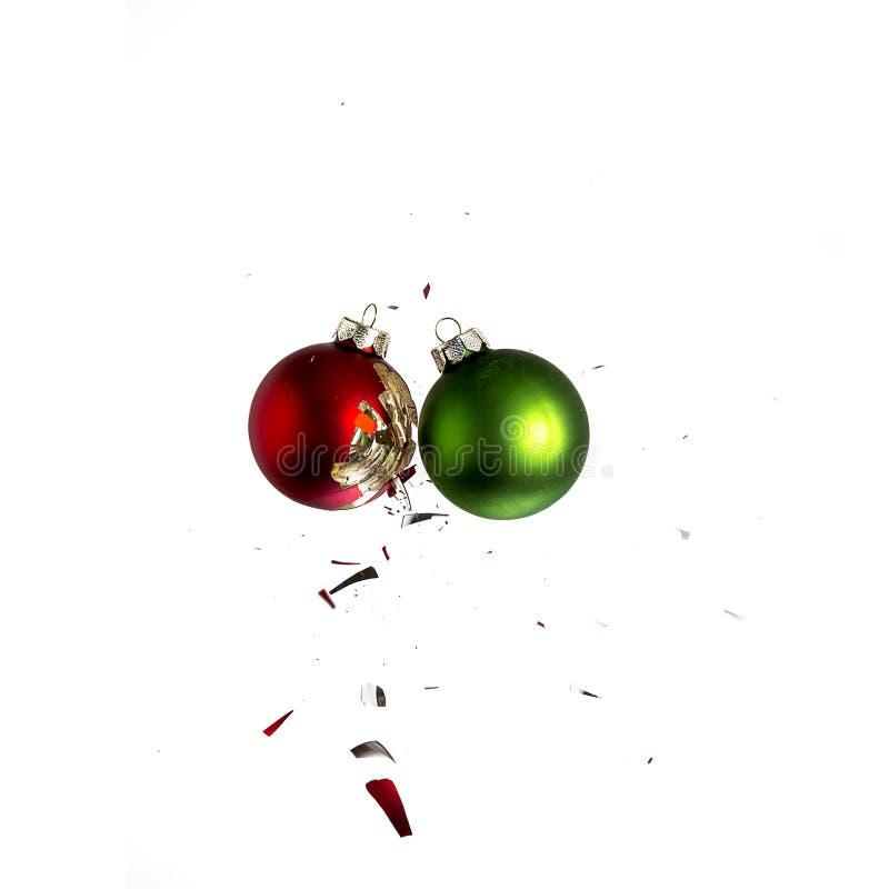 Bolas de la Navidad estrelladas fotos de archivo