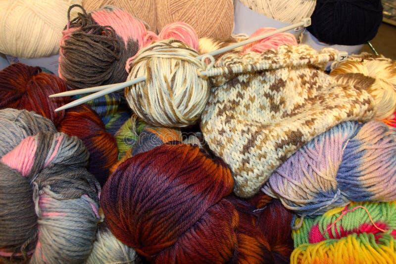 Bolas de lanas imagen de archivo