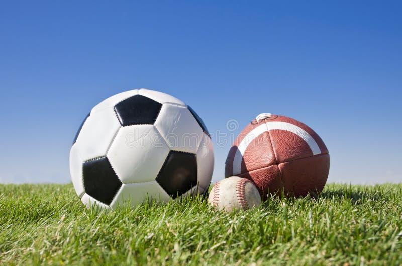 Bolas de los deportes fotos de archivo