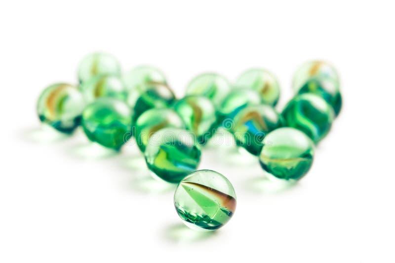 Bolas de mármore de vidro imagem de stock royalty free
