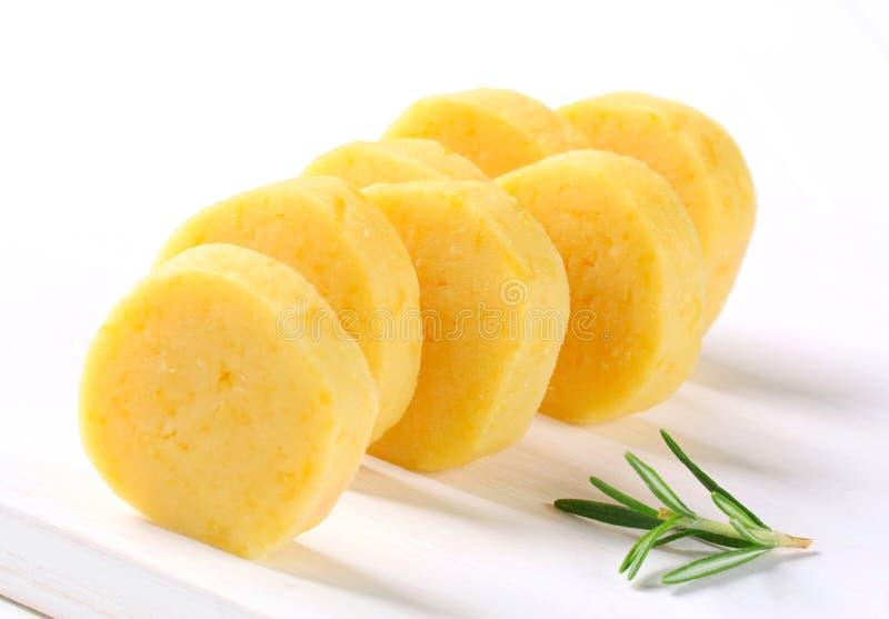 Bolas de masa hervida de la patata imagen de archivo libre de regalías