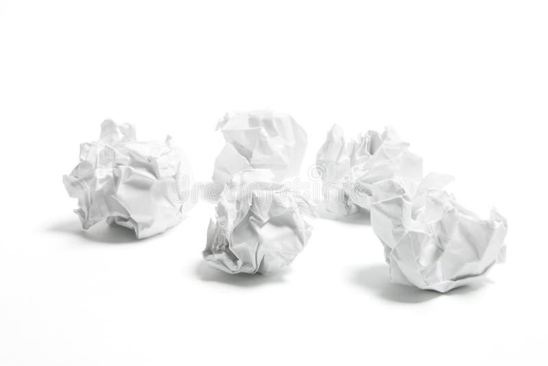 Bolas de papel imágenes de archivo libres de regalías