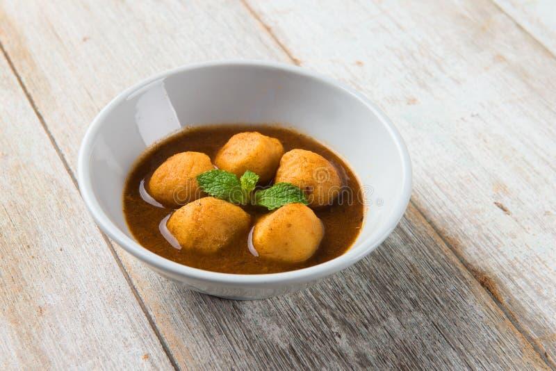 Bolas de pescados del curry fotografía de archivo libre de regalías