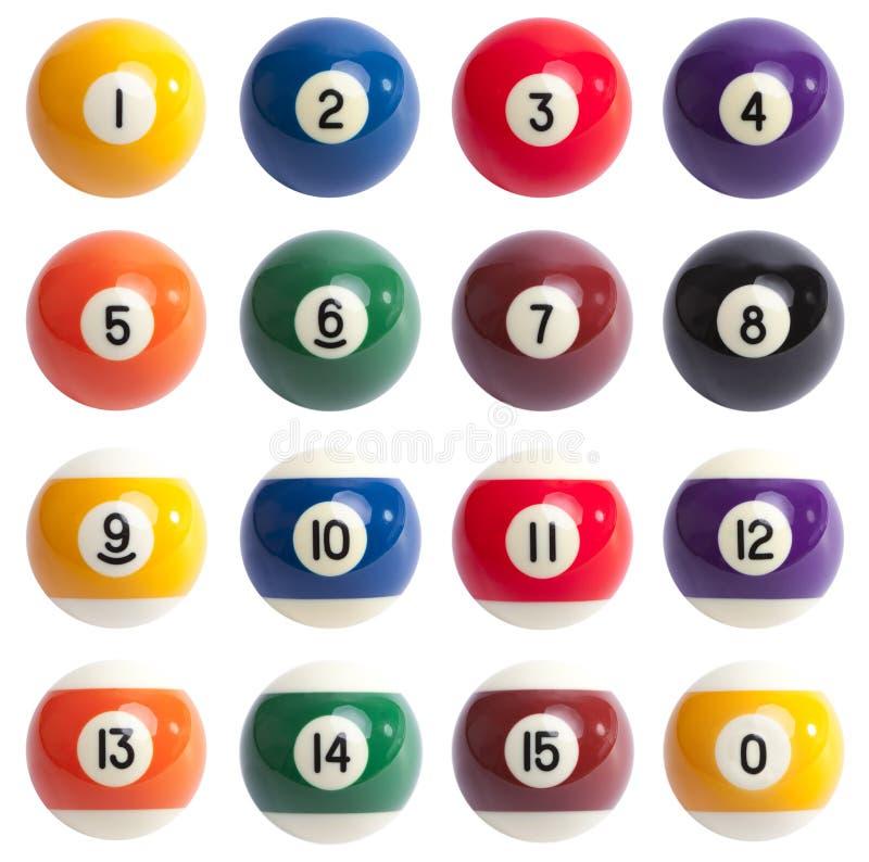 Bolas de piscina foto de archivo