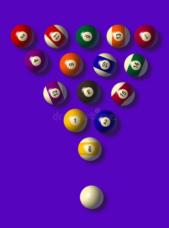 Bolas de piscina stock de ilustración