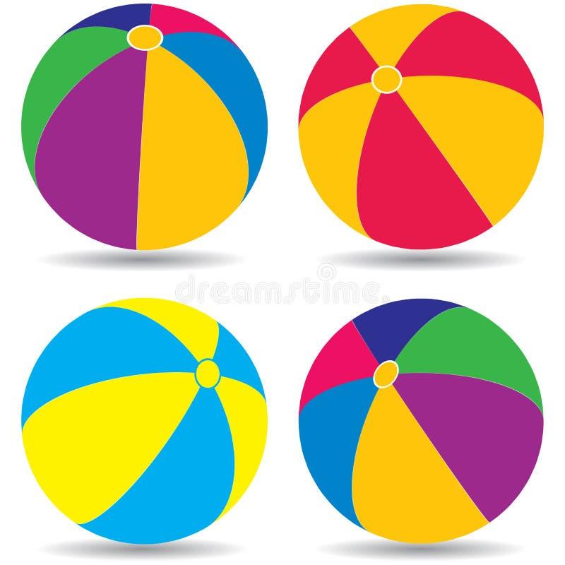 Bolas de praia ilustração stock