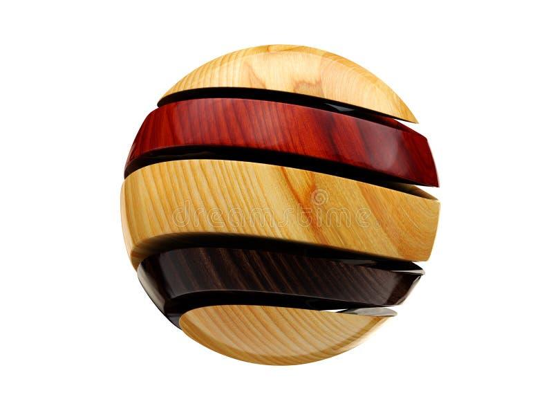 Bolas decorativas coloridos Ilustração abstrata no fundo do whitre ilustração stock