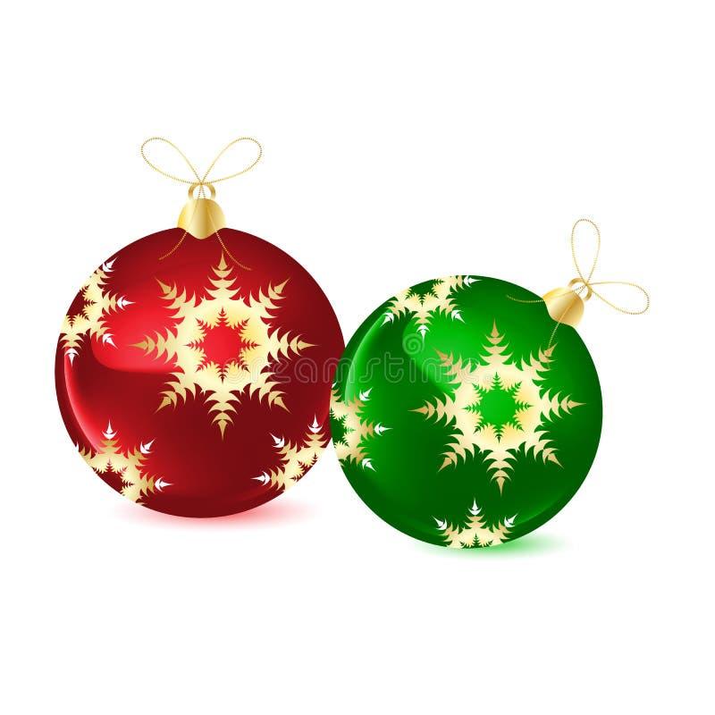bolas decorativas para el rbol de navidad ilustracin del vector
