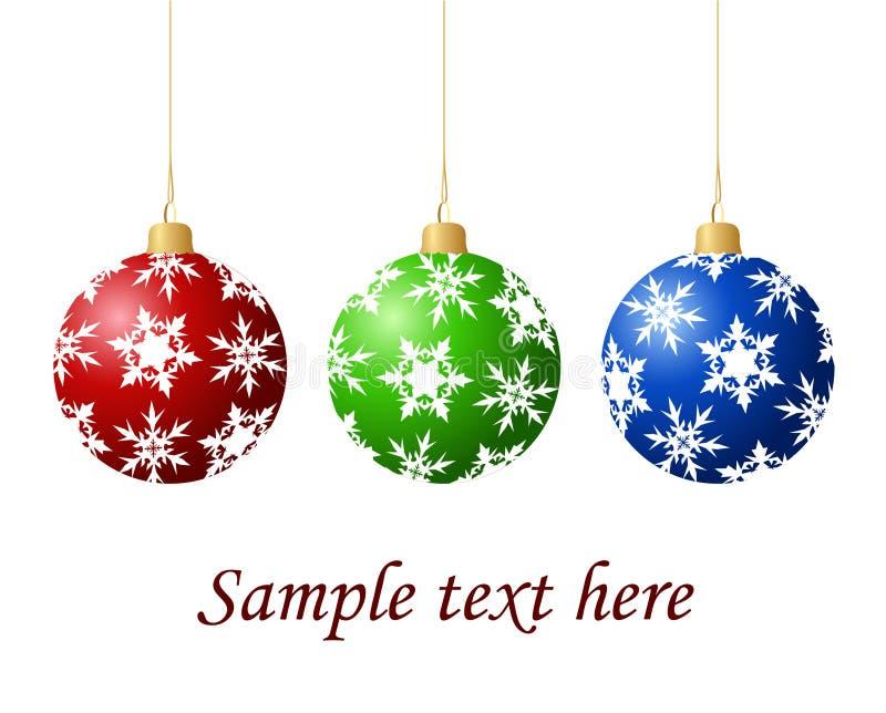 Bolas del árbol de navidad ilustración del vector