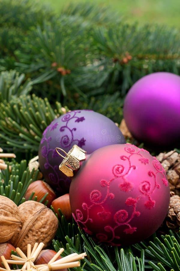 Bolas del árbol de navidad fotografía de archivo