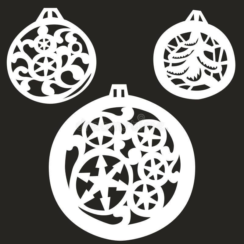Bolas del árbol de navidad del ejemplo del vector ilustración del vector