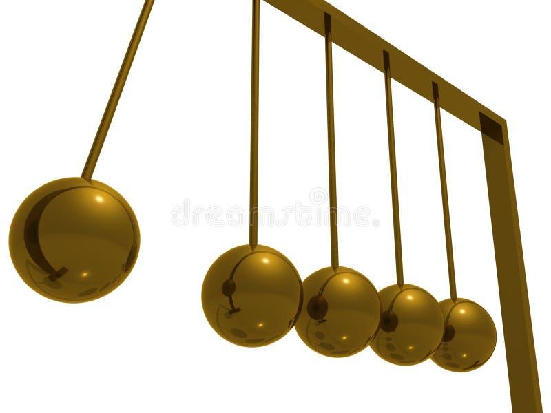 Bolas del ímpetu ilustración del vector
