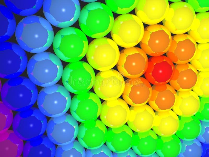 bolas del arco iris 3D libre illustration