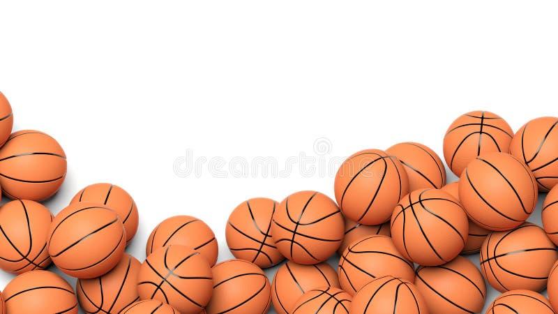 Bolas del baloncesto ilustración del vector