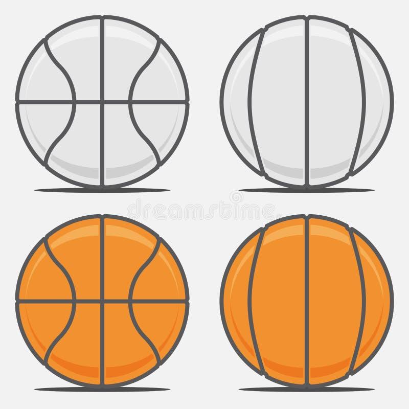 Bolas Del Baloncesto Para Su Team Logo Ilustración del Vector ...