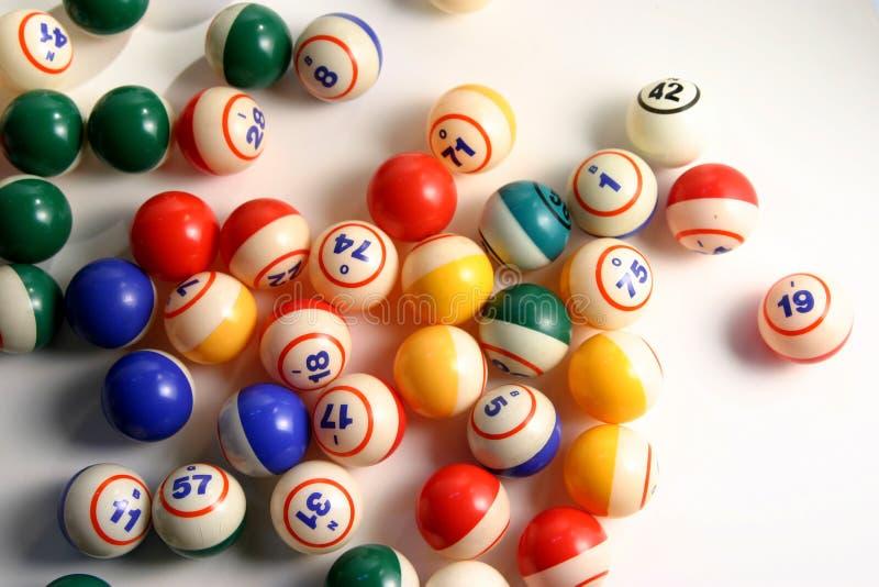 Bolas del bingo foto de archivo