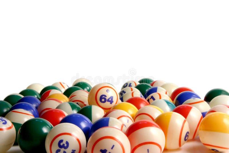 Bolas del bingo imagenes de archivo