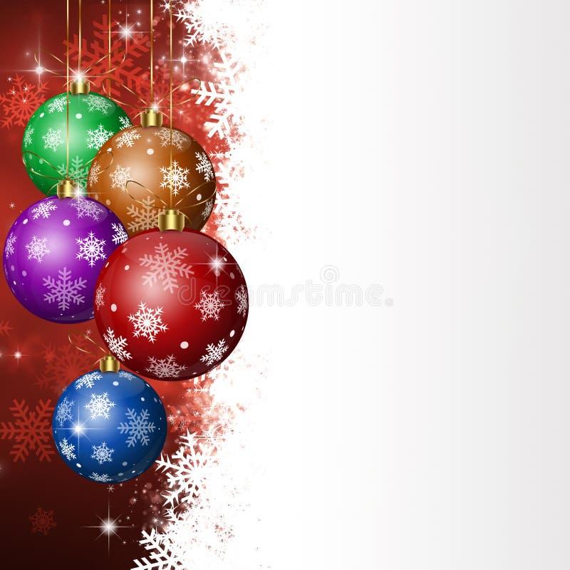 Bolas del día de fiesta de Navidad ilustración del vector