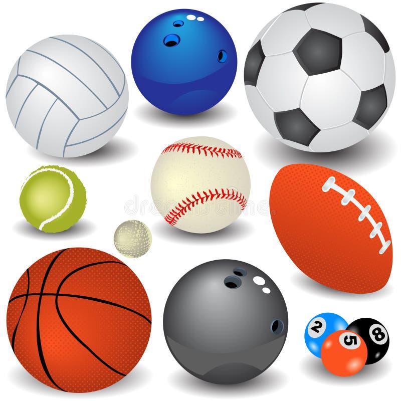 Bolas del deporte stock de ilustración