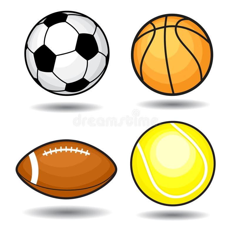 Bolas del deporte ilustración del vector