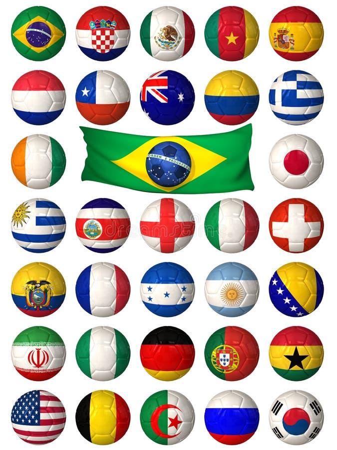 Bolas del fútbol stock de ilustración