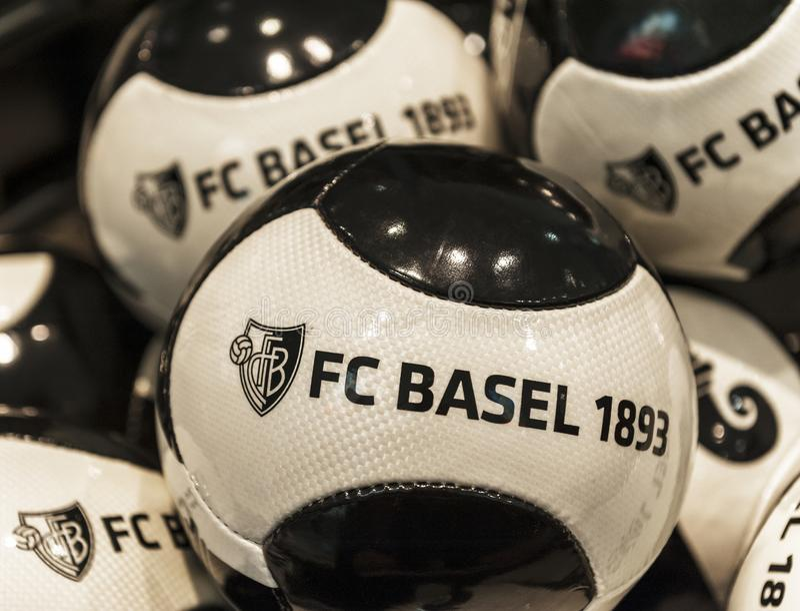 Bolas del FC Basel foto de archivo