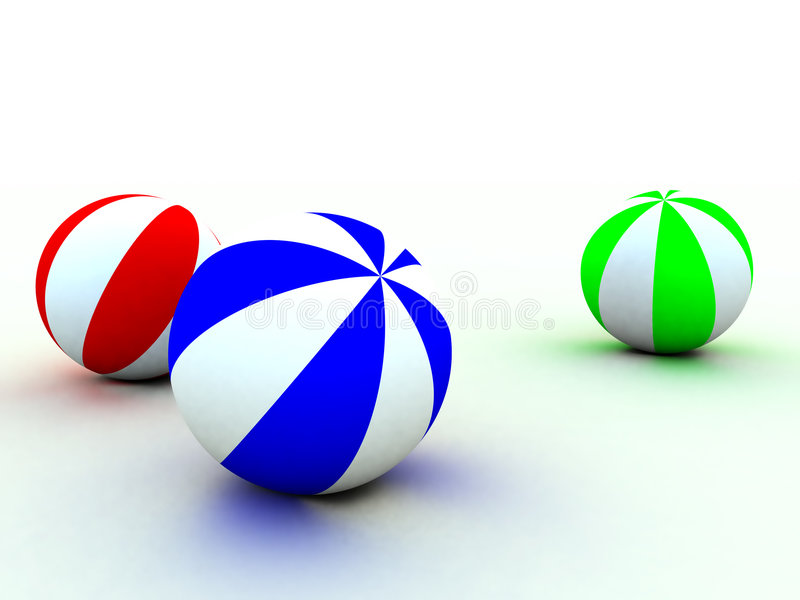 Bolas del niño ilustración del vector